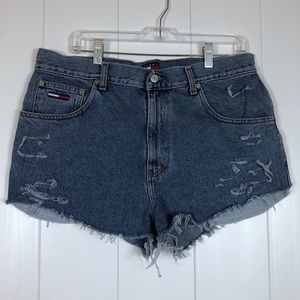 Vintage high rise Tommy Hilfiger cut off shorts